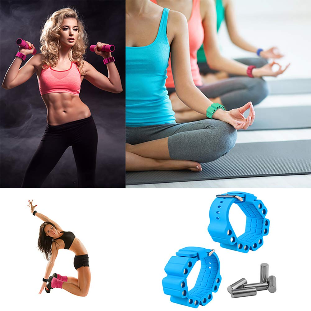 Wrist Weights Adjustable Fitness Wearable Weighted Wristbands to ...