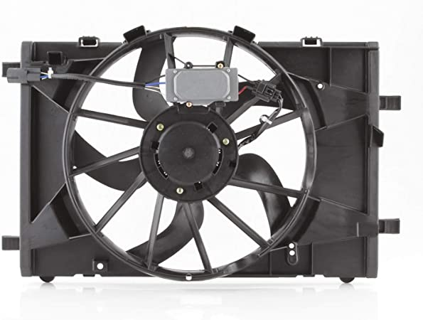 Condenser Cooling Radiator Fan Fits 2010-2012 Ford Fusion 10-11 Mercury Milan 11-12 Lincoln MKZ w//Motor Assembly
