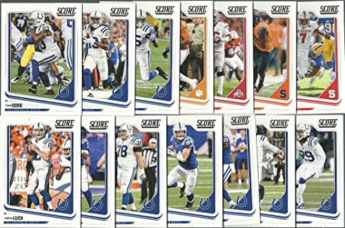- 2018 Panini Score Football Indianapolis Colts Team Set 14 Cards W/Drafted Rookies