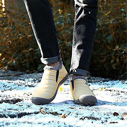 da donna sintetica e Scarpe beginning Auspicious esterno invernali in pelliccia Giallo Basso Stivaletti con da all'acqua calda Collo neve per Resistente fodera uomo fHwqHC8