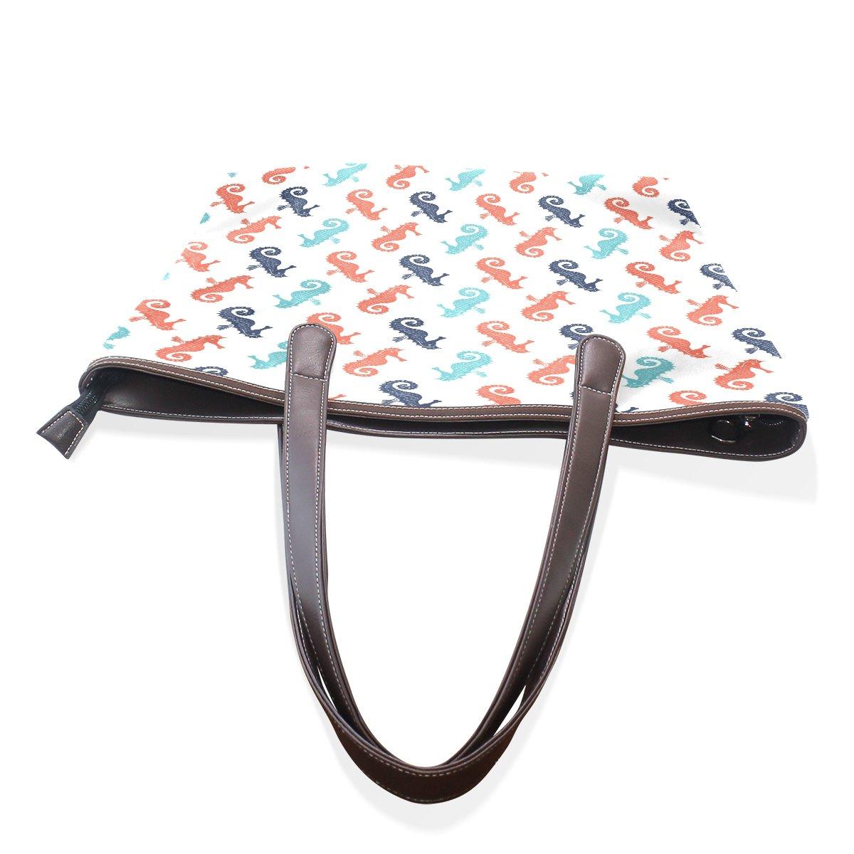 Mr.Weng Household Proud Of The Hippocampus Lady Handbag Tote Bag Zipper Shoulder Bag