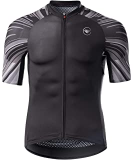 Lightning Pattern Men Cycling Jersey Set Mens Cycling Jersey And Bib Short Set