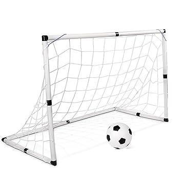 JFJL Soccer Goal For Kids - 25 MM Diameter PVC Frame Portable Soccer ...