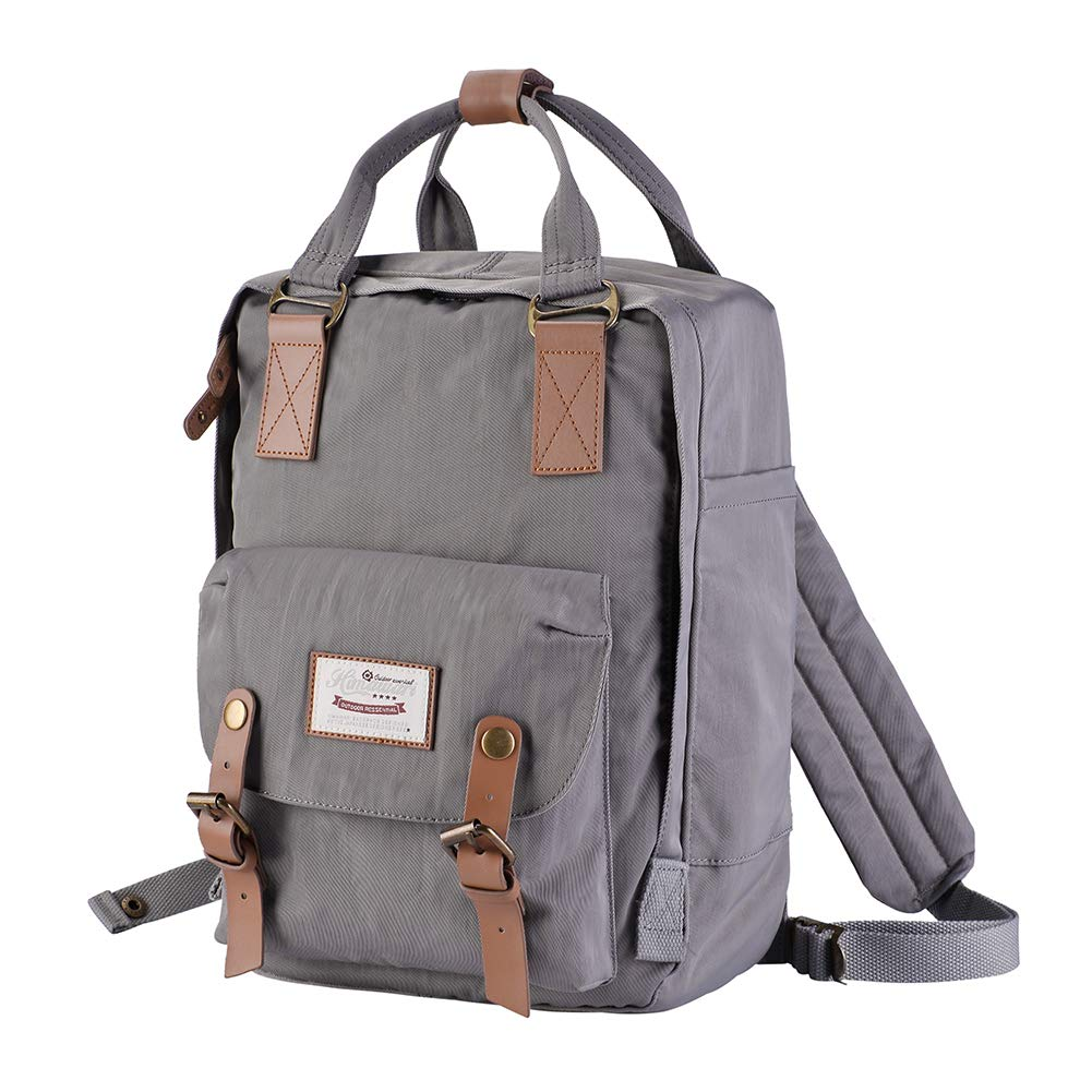 Himawari Doughut backpack Laptop Backpack College Backpack School Bag 14.9'' Travel Backpack for Women, Fits 13-inch Laptop (gray)