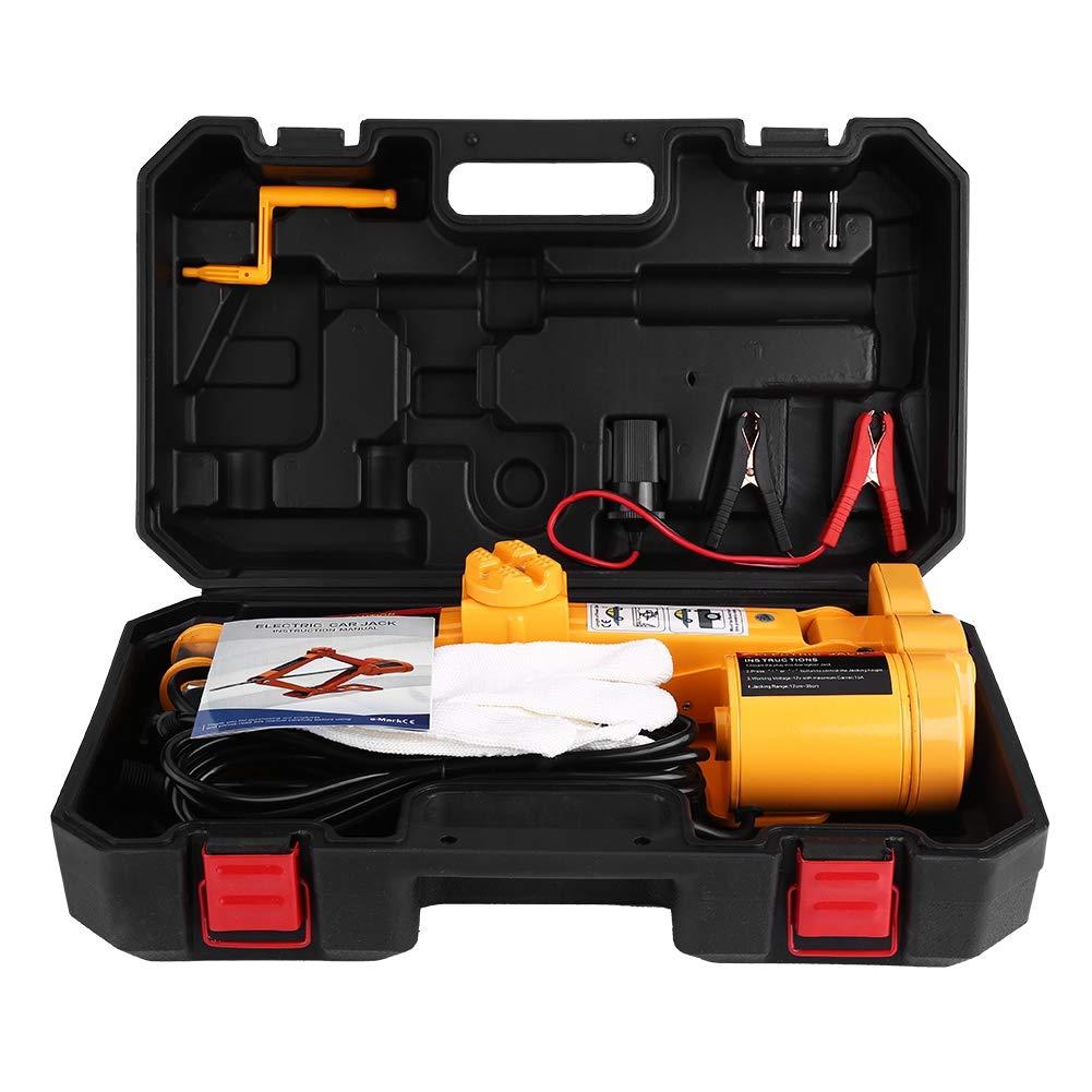 Cric Elettrico Auto,2 Tonnellate 12V DC Jack di Sollevamento Elettrico per Auto Automobilistica da Garage e Attrezzature di Emergenza