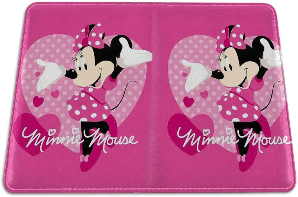 Passport Holder Cover Case Minnie Mouse Love Leather Travel Wallet For Women And Men