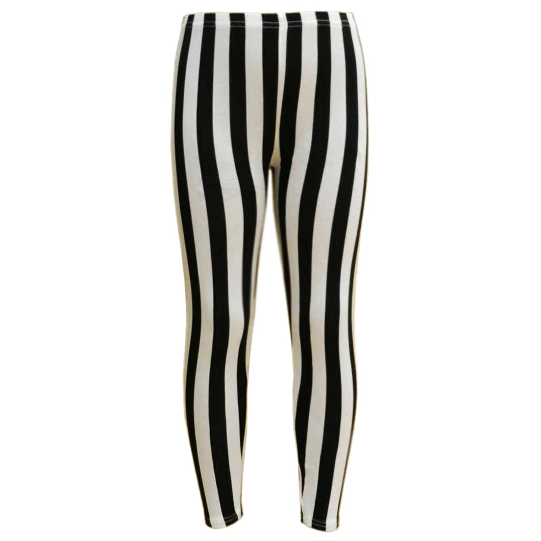 A2Z 4 Kids® Girls Legging Kids Black & White Vertical Stripes Striped Fashion Leggings Age 7 8 9 10 11 12 13 Years