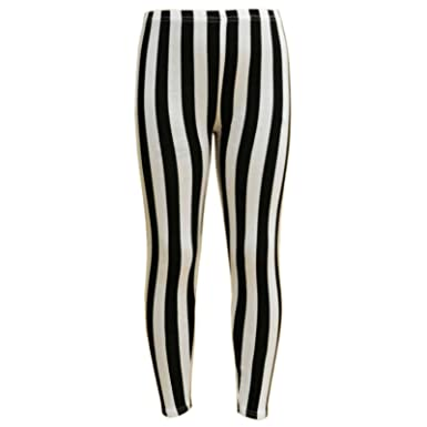 542b63e150d2a Amazon.com: a2z4kids Girls Legging Kids Black & White Vertical Stripes  Striped Fashion Leggings 7-13Y: Clothing