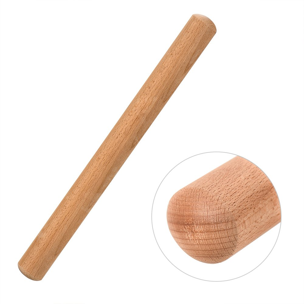 Rolling Pin - Wooden Rolling Pins for Baking Non Stick, VANZAVANZU 15-3/4 Inch Professional Wood Dough Roller for Pasta, Fondant, Cookies, Pizza and Dough, Eco-friendly and Safe (15-3/4 Inch)