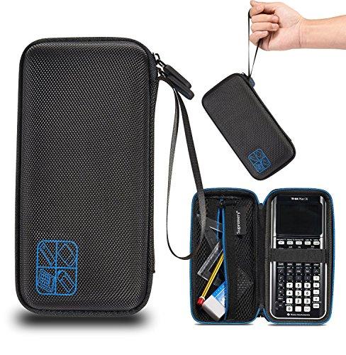 Supremery Texas Instruments TI-84 CE Plus Taschenrechner Schutztasche Case Hülle - Schwarz/Blau