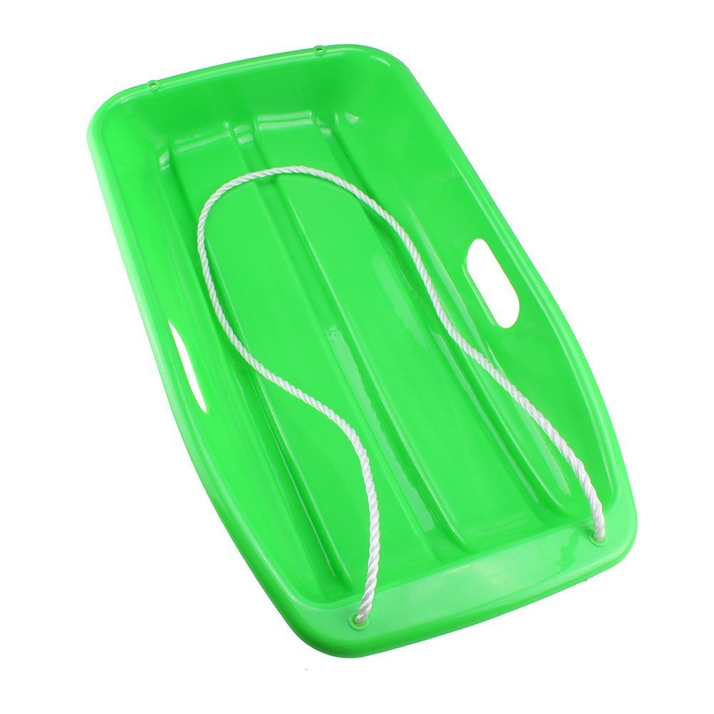 TOOGOO(R) Plastic Outdoor Toboggan Snow Sled for Child Green