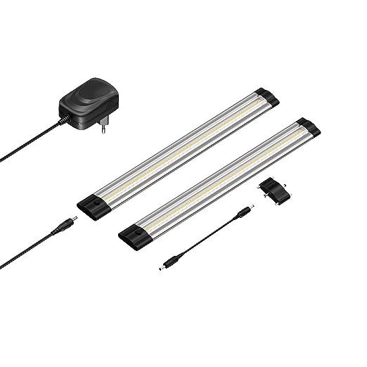 28 opinioni per parlat LED Lampada da sottopiano SIRIS, sottile, 30cm, 220lm, bianca calda, Kit