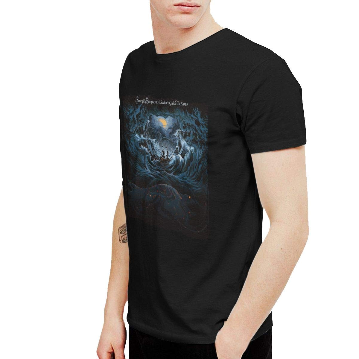 KaceO Mens Sturgill Simpson A Sailors Guide to Earth Tee Black