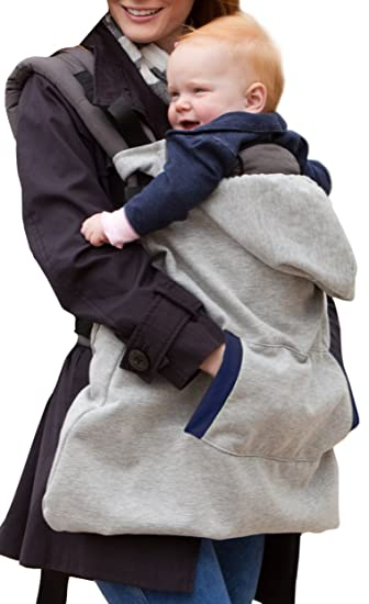 infantino hoodie universal all season carrier cover gray discontinued by manufacturer - Carrier Cover