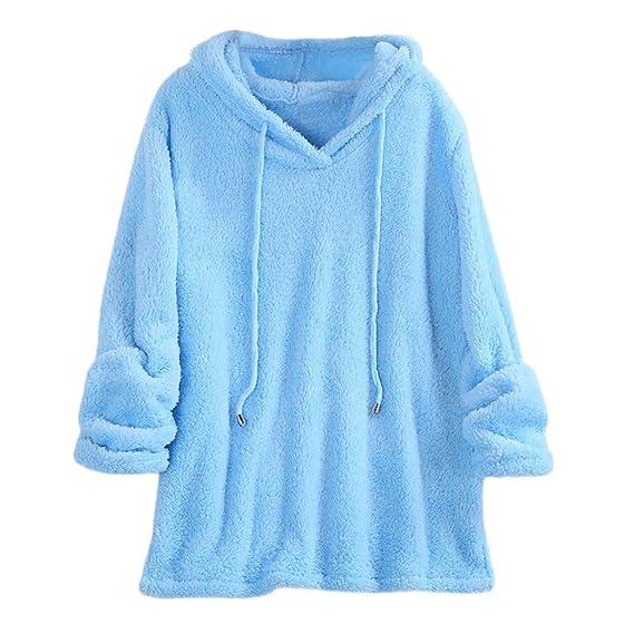 newest a3fb7 c665b ABsoar Sweatshirt Damen Winter Pullover Frauen Jacke Plüsch ...