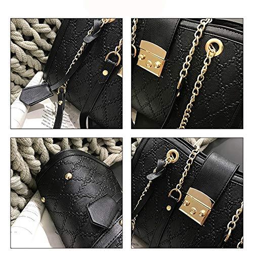 Day Valentino Mother Black Crossbody Grande Rombico regalo portatile Lock Lock San di Wild Kcjmm Bag catena Women Fashion Hand qwTUaxZa1