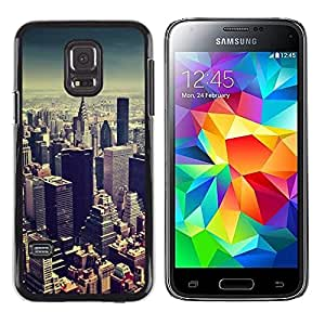 Plastic Shell Protective Case Cover || Samsung Galaxy S5 Mini, SM-G800, NOT S5 REGULAR! || Skyline New York City Blue @XPTECH