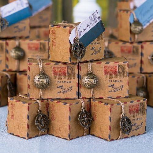 12 or 40 Airmail envelopes DIY International passport travel bon voyage theme birthday party invitations vintage retro style  stationery