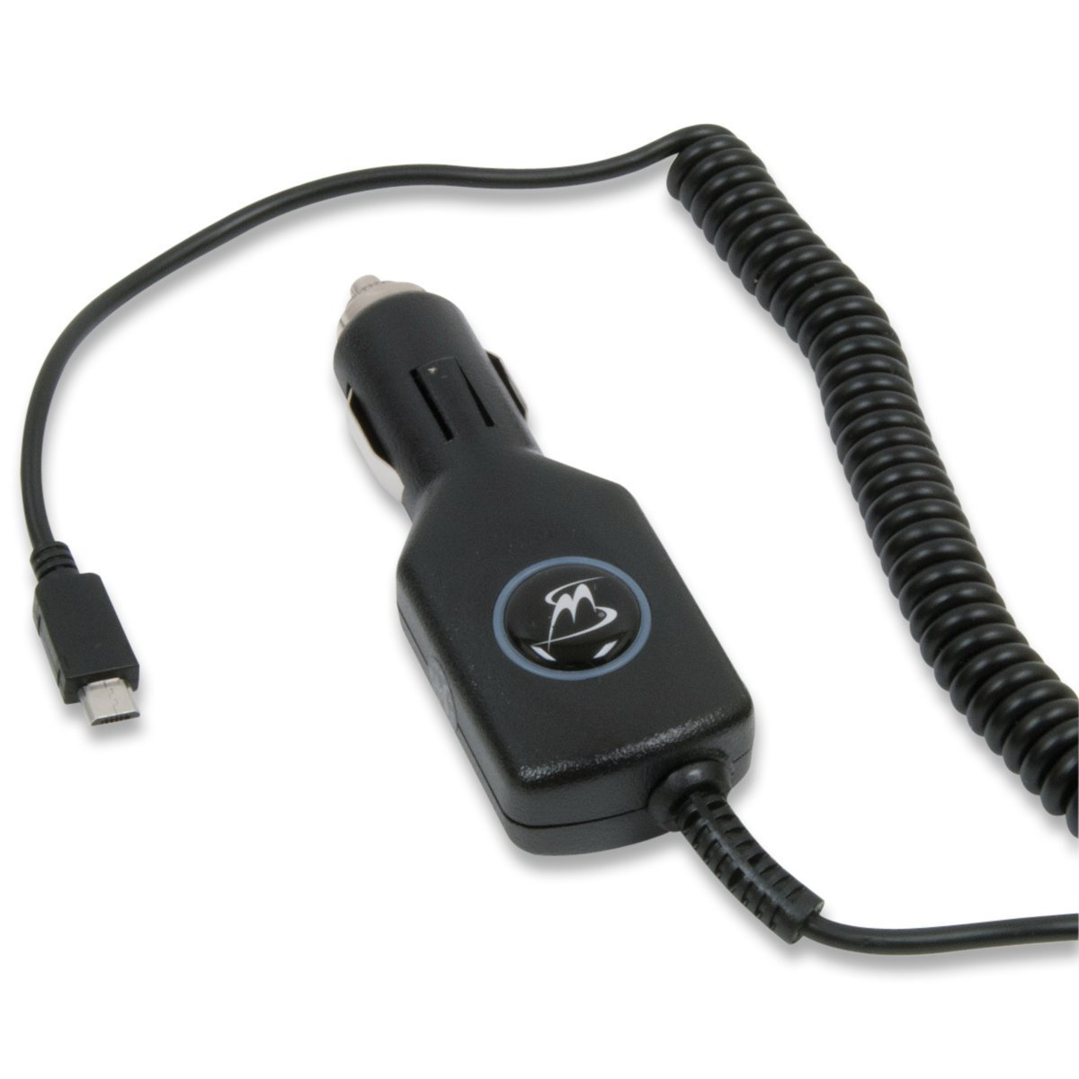 VXi BlueParrott C400-XT Bluetooth Headset -INCLUDES- MobileSpec 12V Replacement Car Charger with Micro USB Adapter AND 5-Pack Blucoil Cable Ties (Black, C400-XT)
