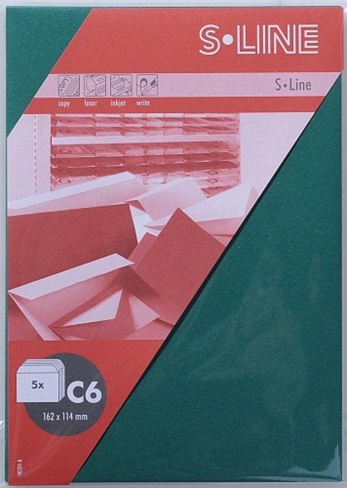 S-Line Kuvert C6 162x114mm - 5er-Pack Tannengr/ün Artoz-Papier AG