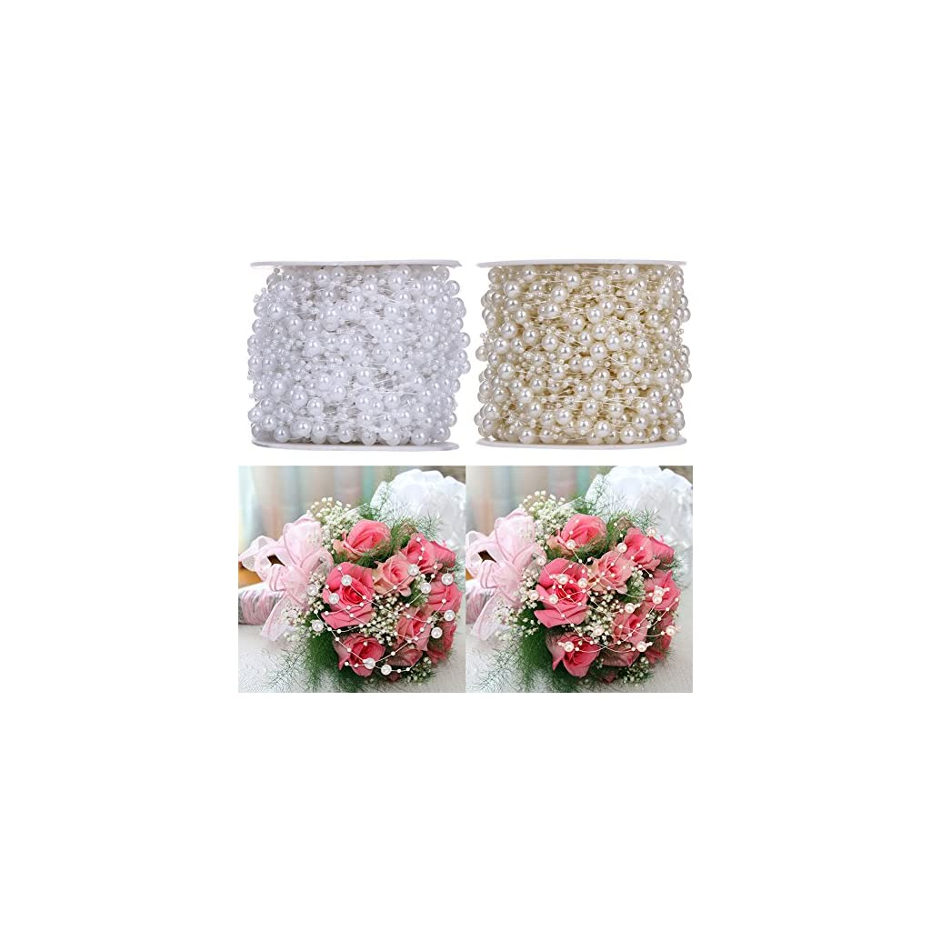 10-MetersLot-Fishing-Line-Artificial-Pearls-Beads-Chain-Garland-Flowers-for-Wedding-Bridal-Bouquet-Flower-Decor