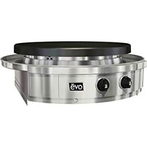 EVO Affinity 30G Series Built-in Gas Grill (10-0055-LP), Seasoned Steel Cooktop, Propane