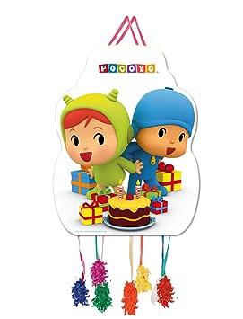 ALMACENESADAN 0847, Piñata Perfil Pocoyo y Nina,, Fiestas y cumpleaños, Dimensiones: 33x46 cms