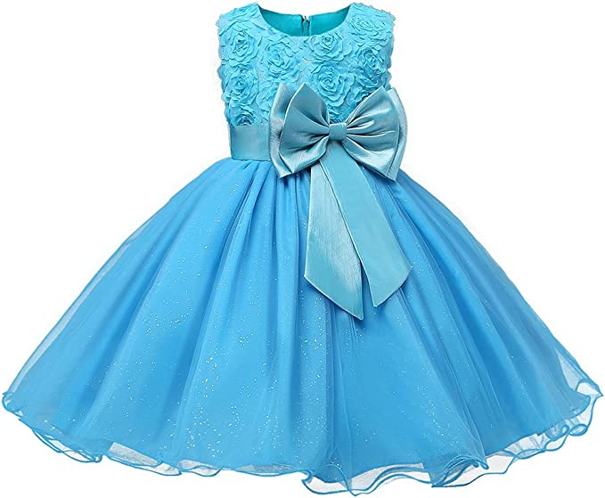 Hibote Kids M/ädchen Clothing Gown Wedding Party Kleider Formal Teenagers Prom