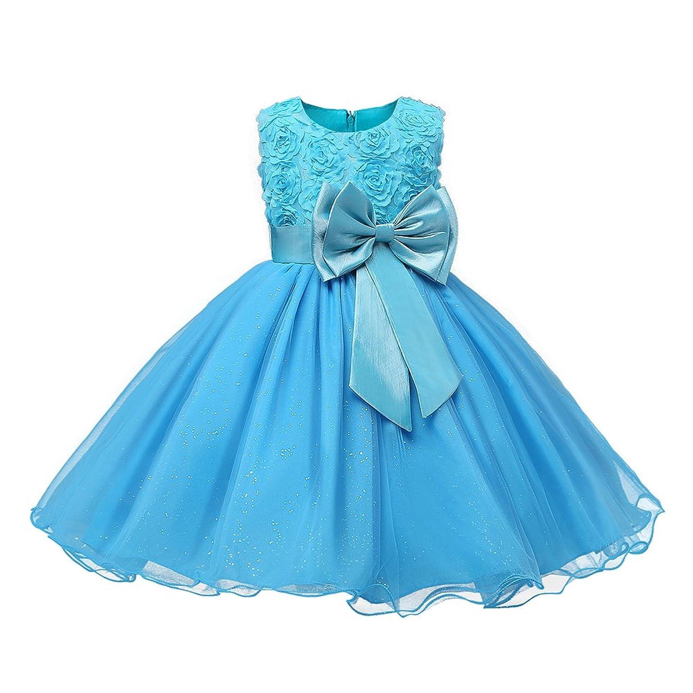 Kids Girl Highdas vestido de fiesta vestido de fiesta de la boda ropa formal adolescente azul 80CM: Amazon.es: Ropa y accesorios