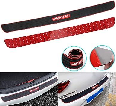 90cm Black Car Rear Bumper Guard Trunk Edge Sill Rubber Protector Accessories