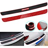 RUICA Rear Bumper Protector Guard Trunk Rubber Protection Strip Rubber Scratch-Resistant Trunk Door Entry Guards Car Accessor