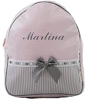 f0baf1608 Mochila o Bolsa Infantil lencera Personalizada con Nombre en plastificado  Rosa