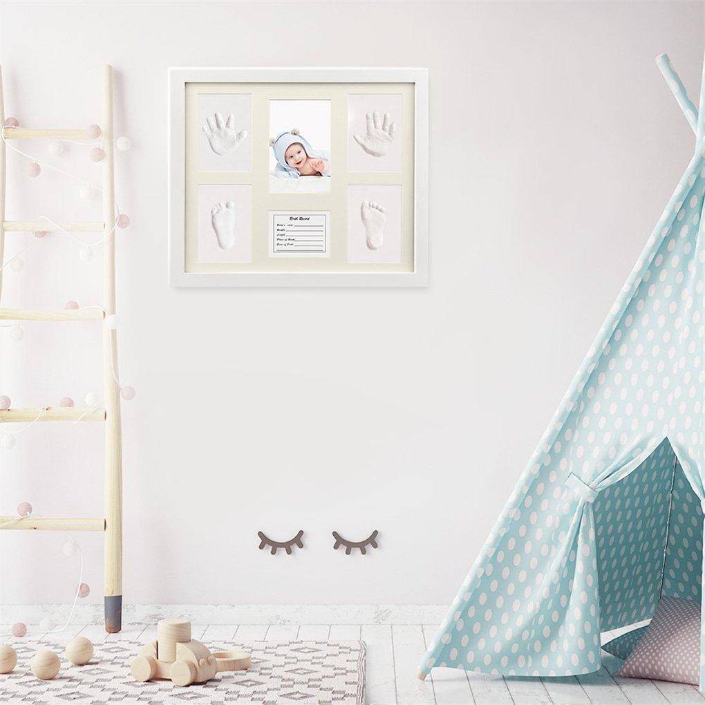 3D Marco de Huellas para Ni/ños Regalos /Únicos para el Reci/én Nacido y Fiesta de Bienvenida al Beb/é #1 Joyeee Marco de Fotos para Beb/é Kit de Marco de Huellas de Mano y pie de beb/é