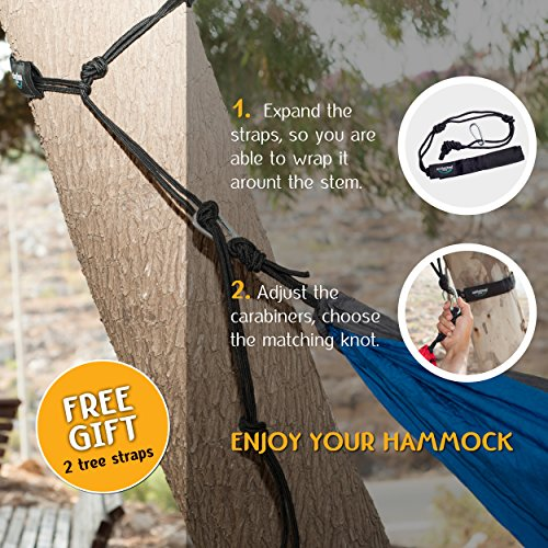 Double Camping Hammock By Unlimited Camp 3 Seam Nylon