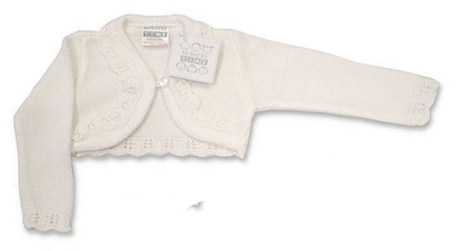 Baby Girls Bolero Fancy Cardigan Shrug 0 - 24 months (12-18 Months, White)
