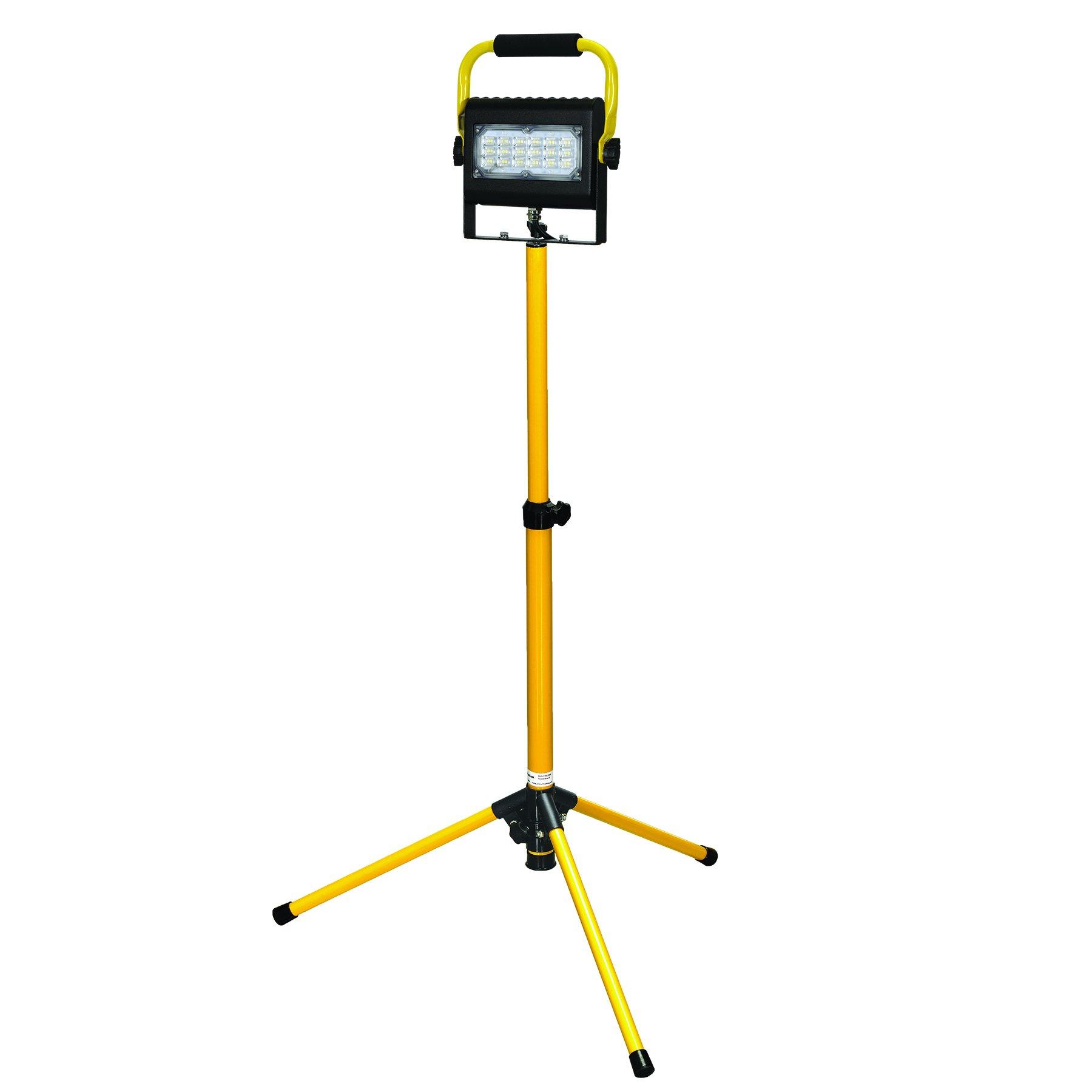 Prolight 411230 Probuilt Slim Series 30-Watt LED Work Light-Single Head w/2-Step Tripod 2-Step, Yellow/Black