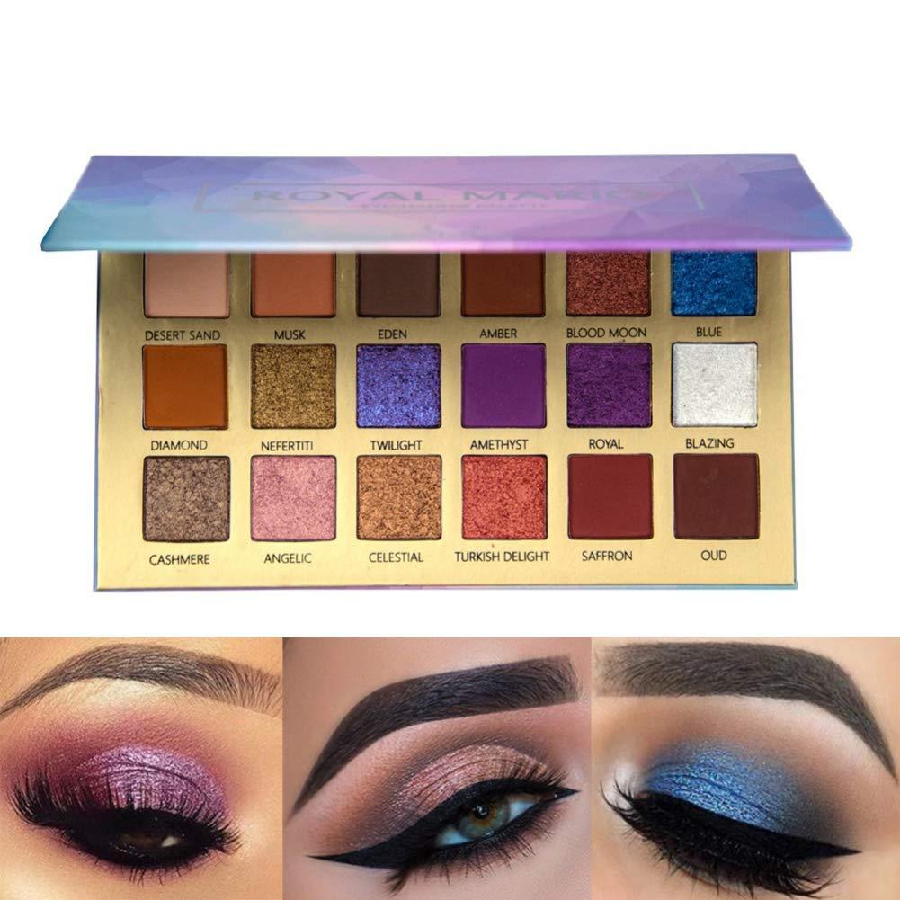 Angmile 18 Colors Eyeshadow Palette Earth Pumpkin Shimmer & Matte Eye Shadow Powder Cosmetic #Royal Mario