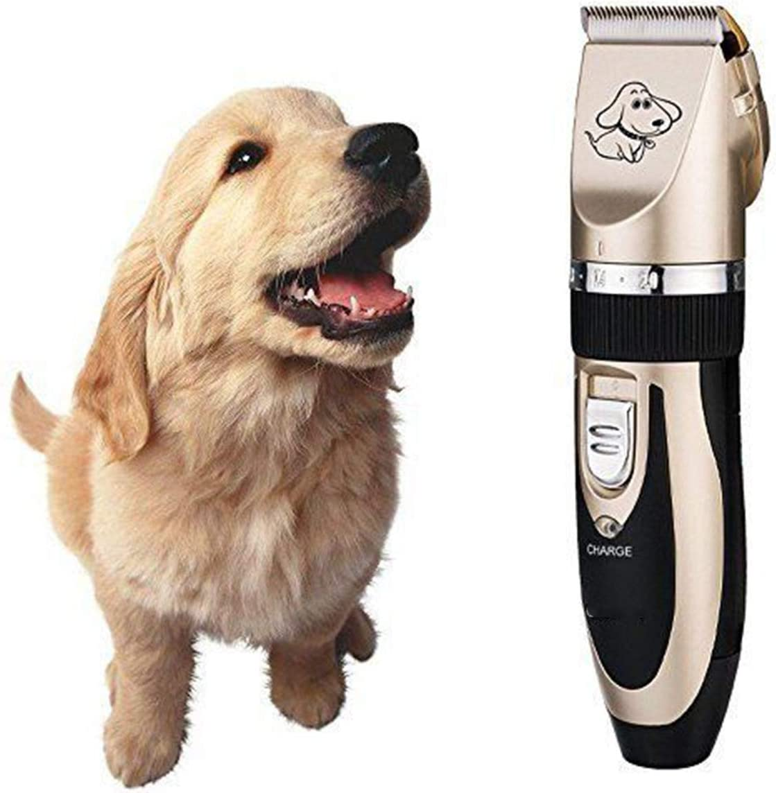 Petyoung Pet Grooming Clippers Low Noise,Cordless Electric Dog Cat Grooming Trimming Kit Professional Clipper Kits US Plug