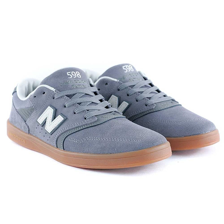 262b20ff928aa durable modeling New Balance # Numeric 598 Sneakers (Grey/Grey/Gum) Men's