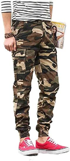 VITryst Men's Long Pants Straight Relaxed-Fit Oversized Jogger Pants