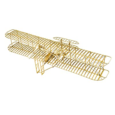 Balsa Wood Airplane Kits- Wright Brothers Flyer DIY Model Plane Woodcraft Construction Set, Laser Cut 3D Wooden Puzzles Aircraft Model Kit to Build, Creative Brain Teaser Jigsaw Puzzles for Adults: Toys & Games