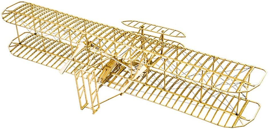 Balsa Wood Airplane Kits- Wright Brothers Flyer DIY Wooden Models Plane Construction Set, Laser Cut Aircraft Model Kit 3D Puzzles for Adults, Perfect Brain Teaser Jigsaw Puzzle for Home Decor