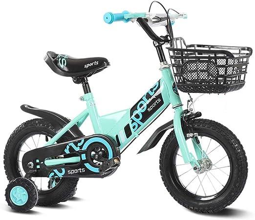 YUMEIGE Bicicletas Bicicleta Infantil 12 14 16 18 20 Pulgadas, Cuadro de Acero al Carbono Bicicletas con Ruedas de Entrenamiento Bicicleta Infantil para niños y niñas, 2-15 años 33