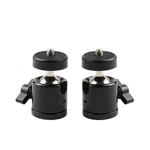 "Eggsnow 1/4"" Mini Tripod Ball Head Bracket Holder Mount Ballhead for DSLR Camera-2pcs"