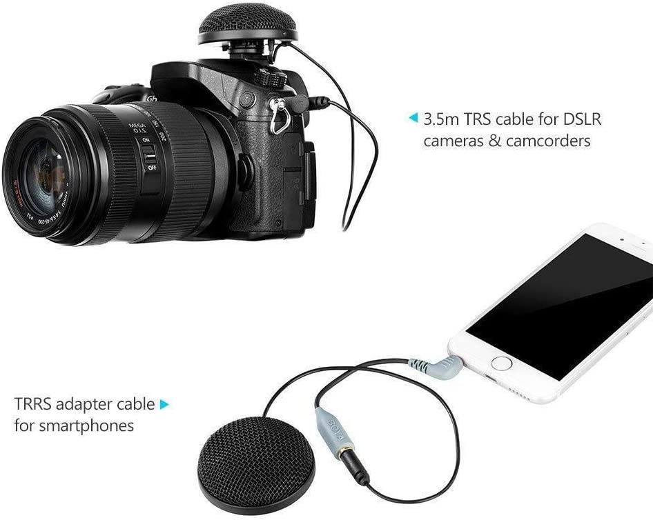 Market/&YCY by-MM2 Professional Stereo Microphone Table Top Conference Mic with Furry Windshield for iPhone 8 8 Plus iPad Canon Nikon Sony DSLR Camera