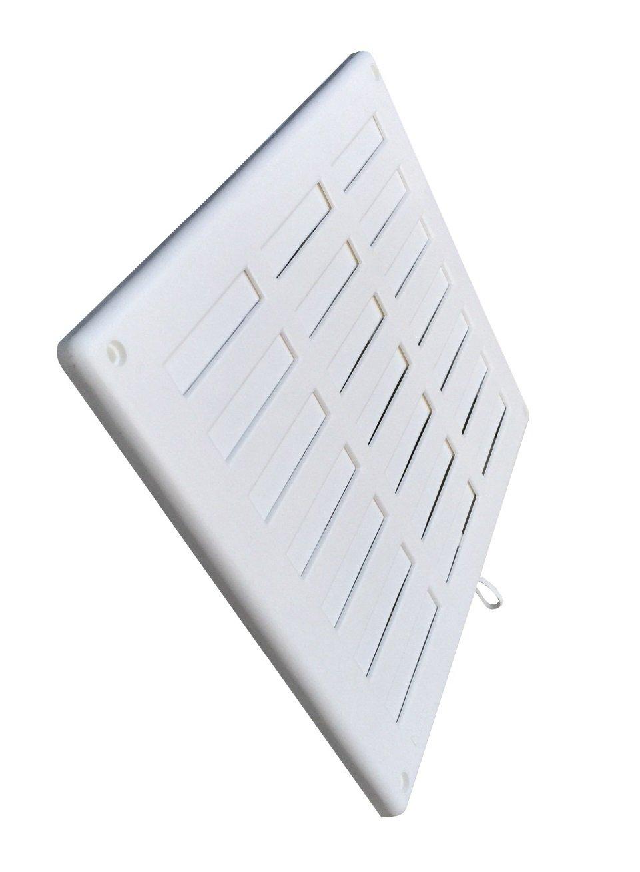 Adjustable Sliding Grille 300x 250mm Plastic White Trobak