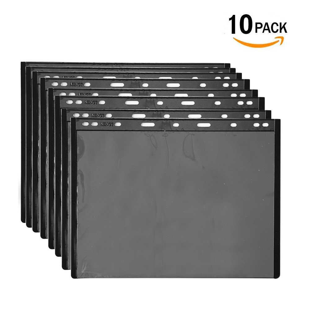 Stamp Stock Pages Sheets Plastic Black Coin Holders for currency collection 10 Pages