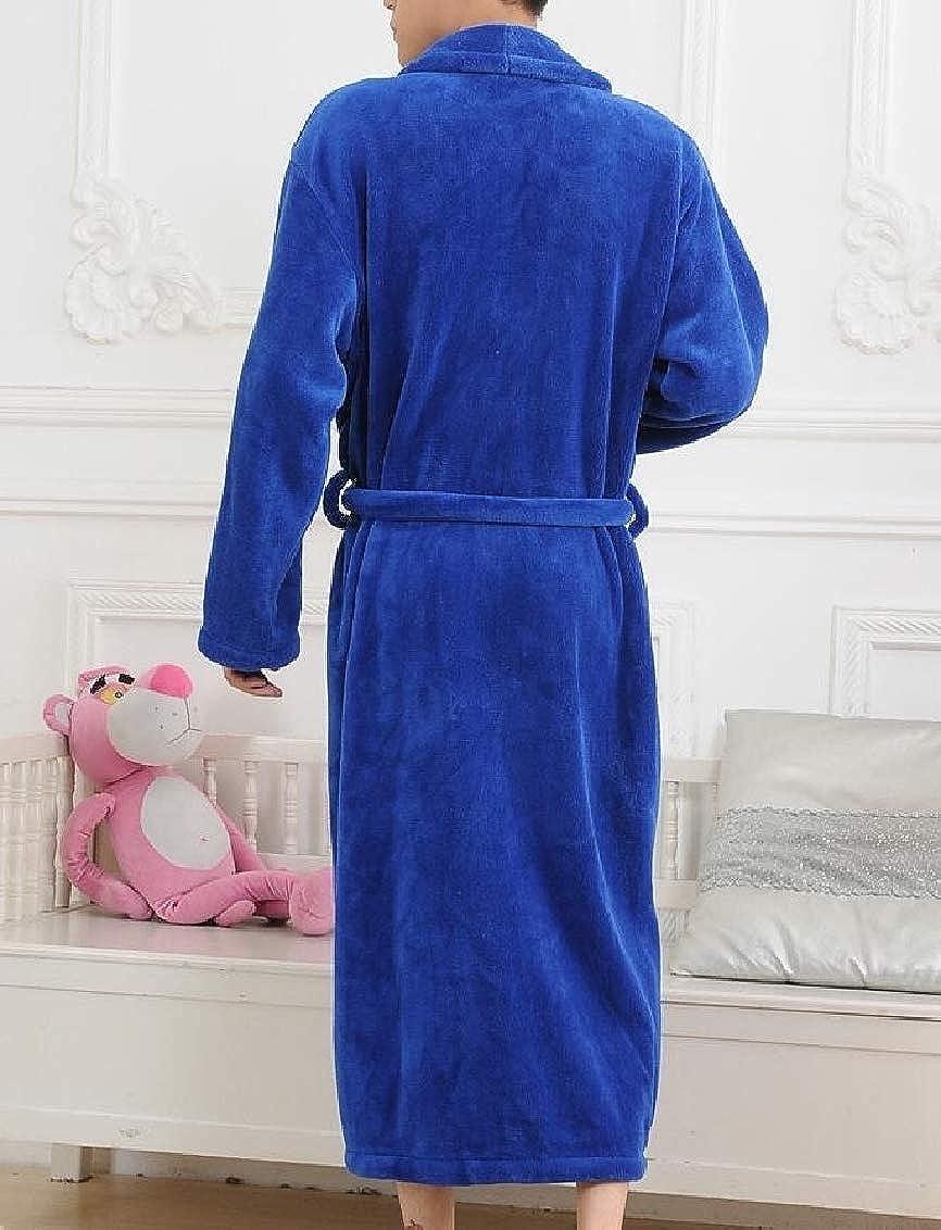 Freely Mens Flannel Warm Leisure Plus Size Straps Winter Night Shirt