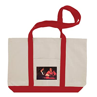 Birth Of Christ (La Tour) Cotton Canvas Boat Tote Bag Tote