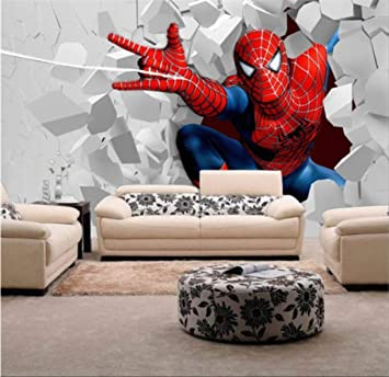 3d Children Wallpaper Spiderman Mural For The Childrens